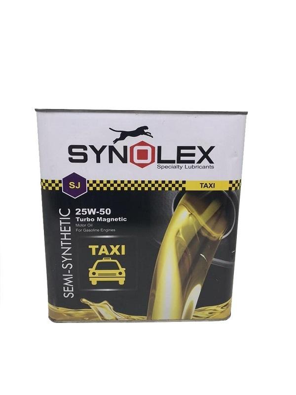 روغن موتور خودرو سینولکس مدل تاکسی 25W-50 SJ ظرفیت 4.5لیتر