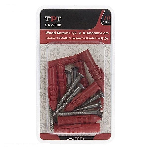 مجموعه 10 عددی پیچ چوب و رولپلاک TPT