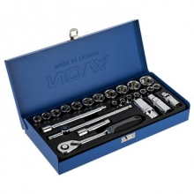 Nova NTS 7400 Socket Set And Ratchet Wrench 25 PCS