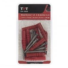TPT SA-5008 Wood Screw And Rawlplug Pack Of 10 PCS