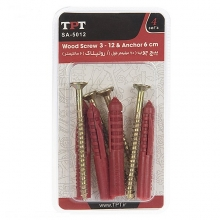 TPT SA-5012 Wood Screw And Rawlplug Pack Of 4 PCS