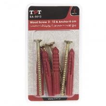 مجموعه 4 عددی پیچ چوب و رولپلاک TPT