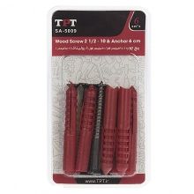 TPT SA-5009 Wood Screw And Rawlplug Pack Of 6 PCS
